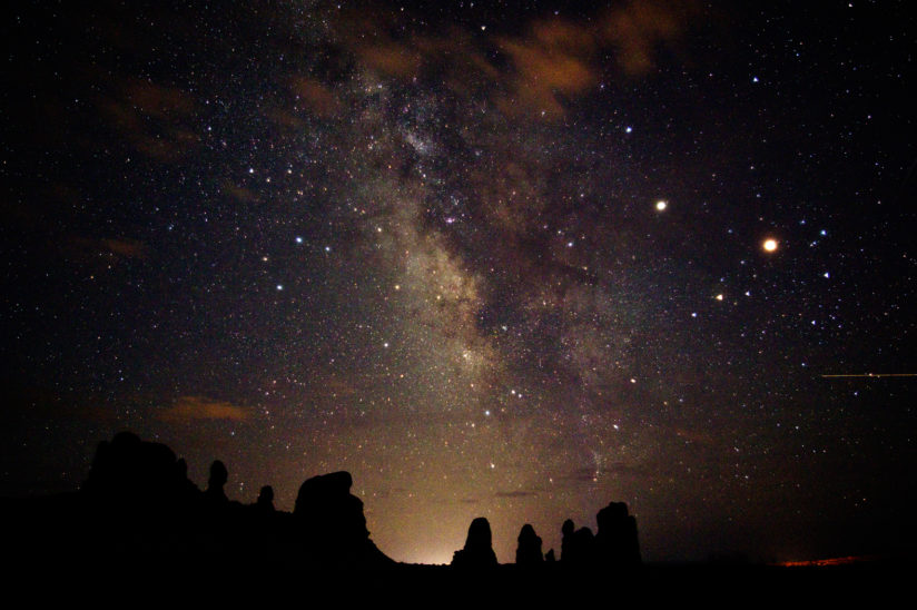Milky Way over Balancing Rock