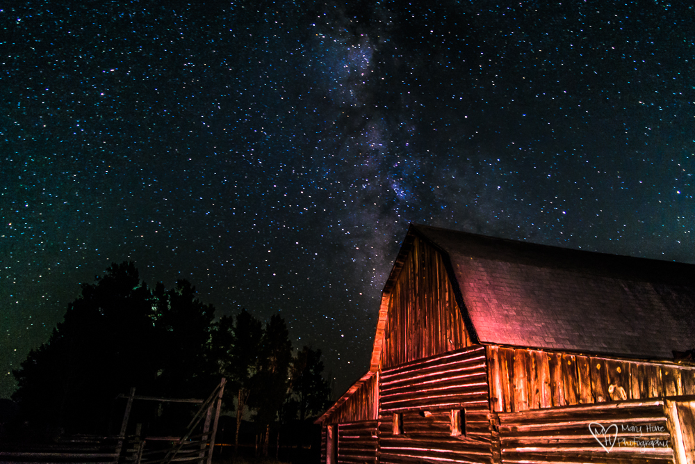 Milky way at the Moulton barn