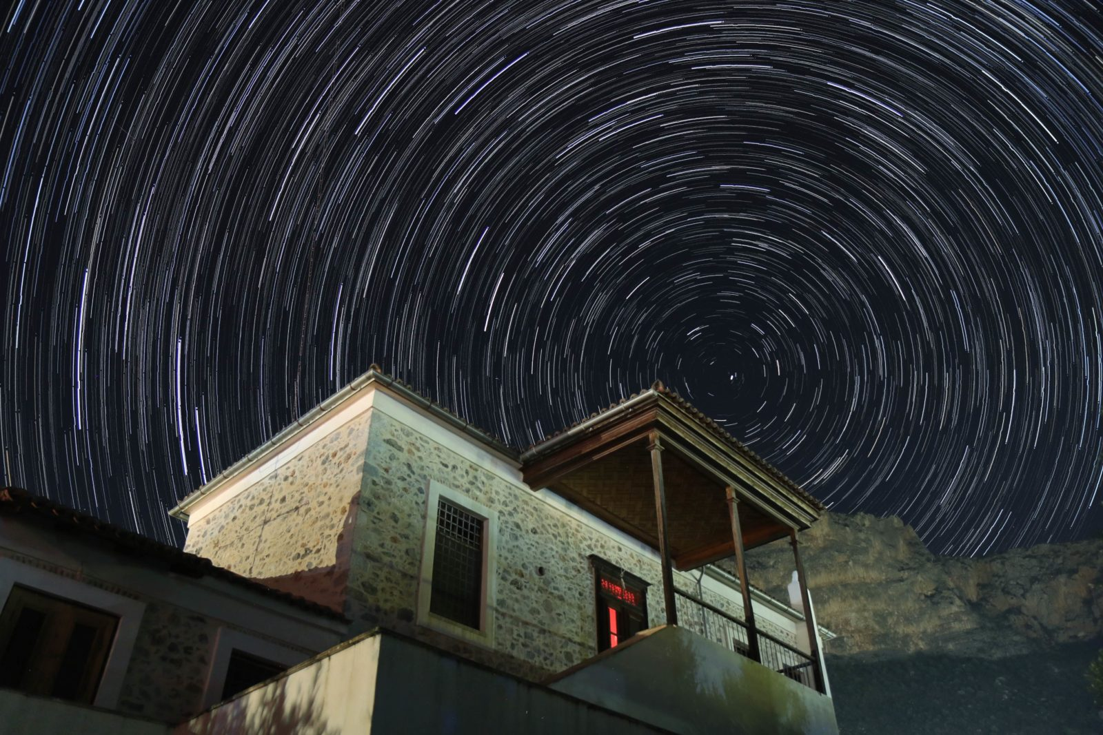 Star trails at home