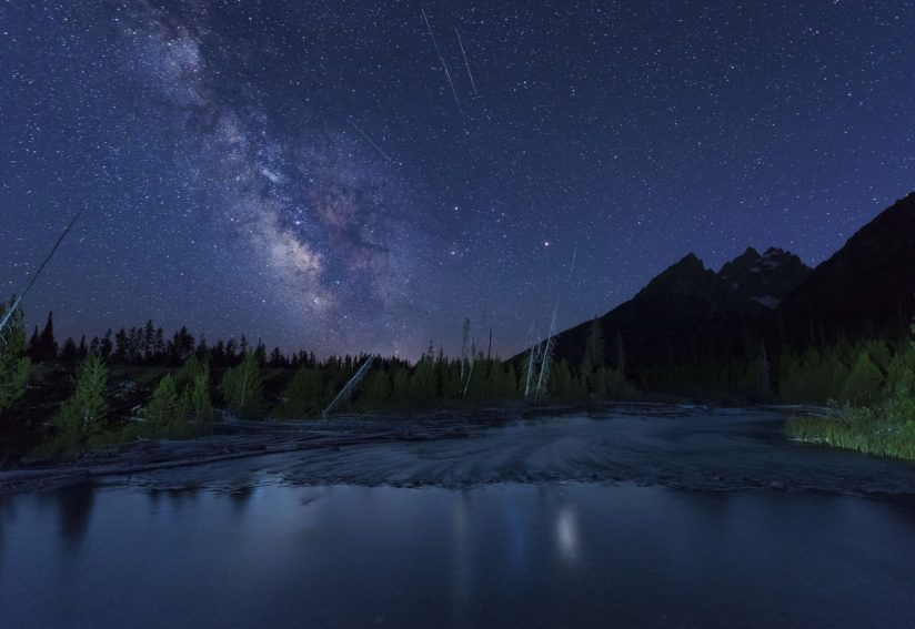 String Lake Milky Way in the Shadow of the Tetons