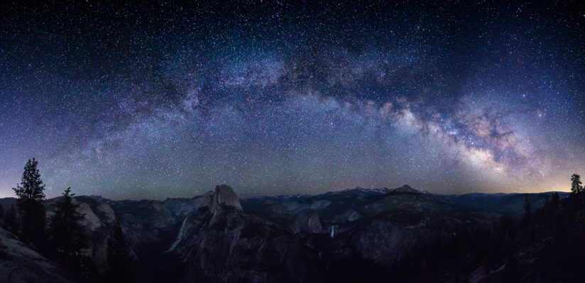Milky Arch Over Half Dome