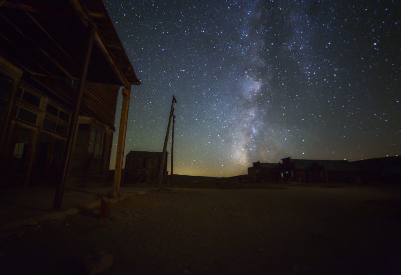 Ghost Town Night Sky