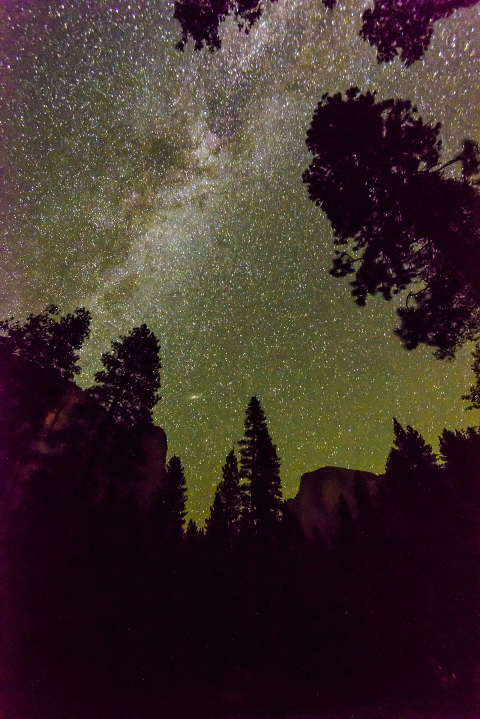 Milky Way Rising Over Half Dome
