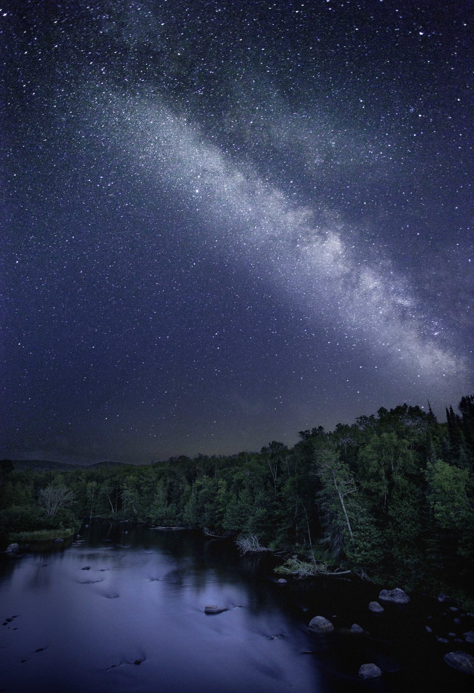 Wolf River and Night Sky