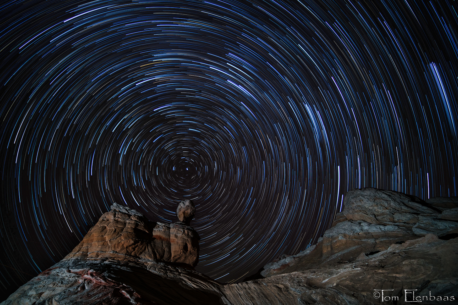 White Pocket Star Trails