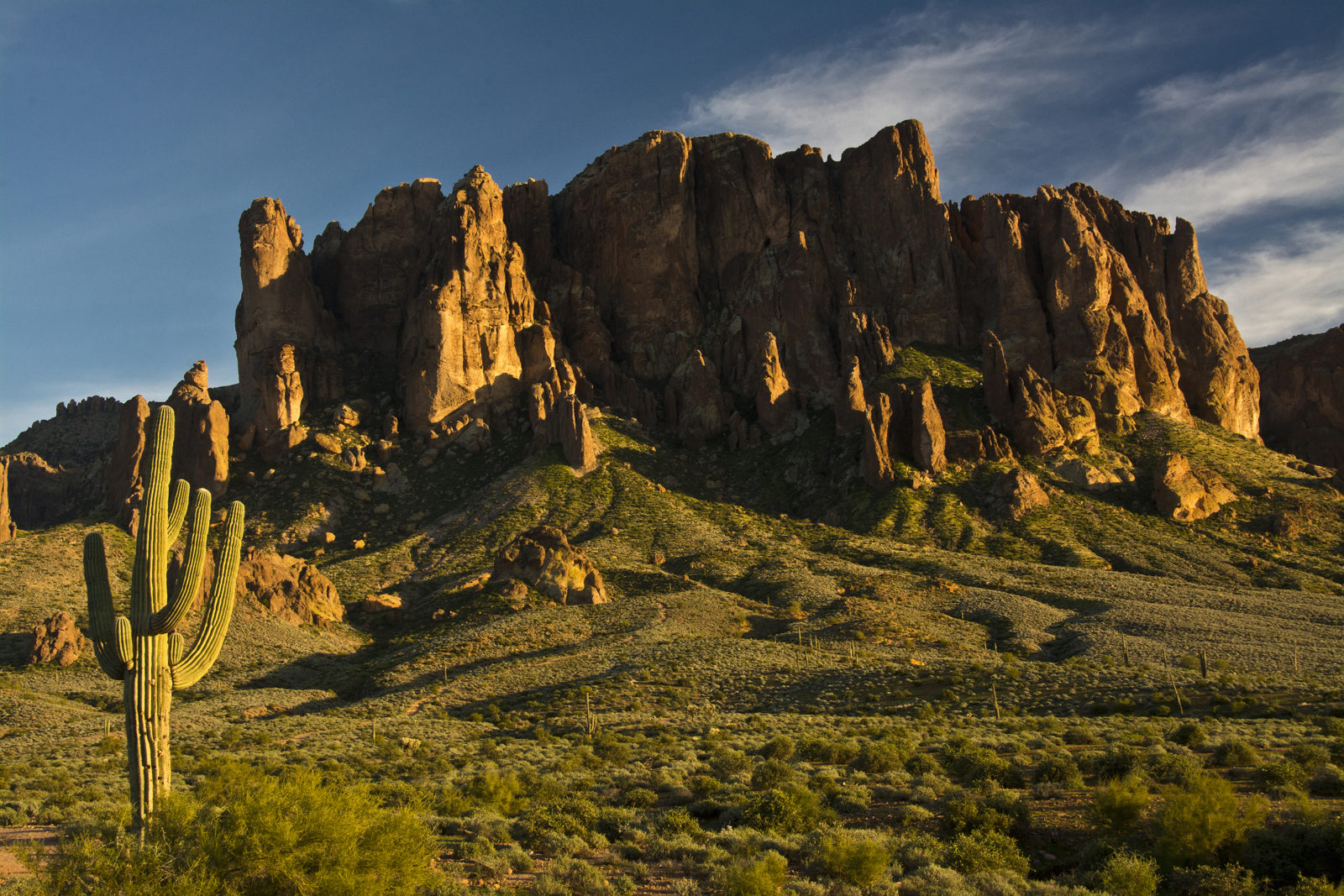 Sunset on Superstition Mountain