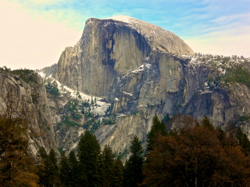 Half Dome from Vernal Falls trail.