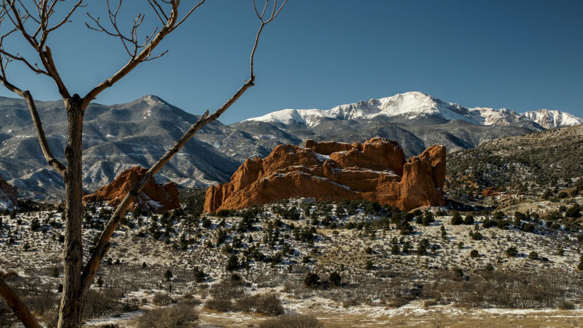 Pikes Peak and Kissing Camels Rock