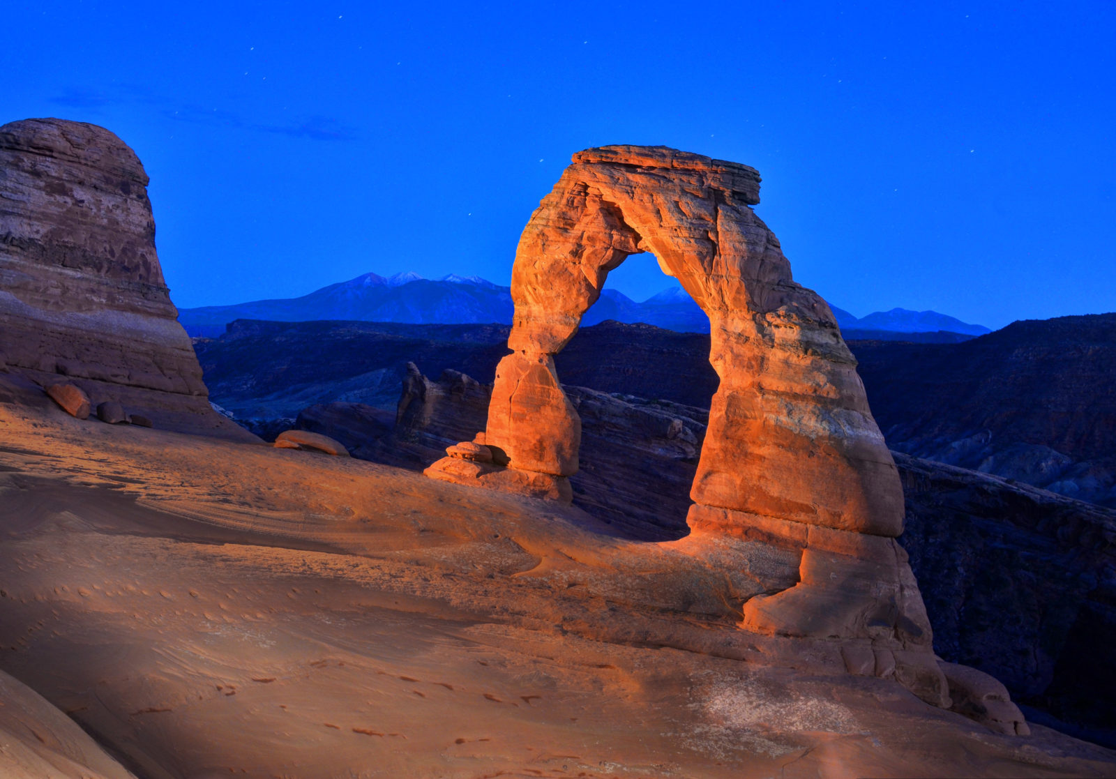 Delicate Arch by Moonlight