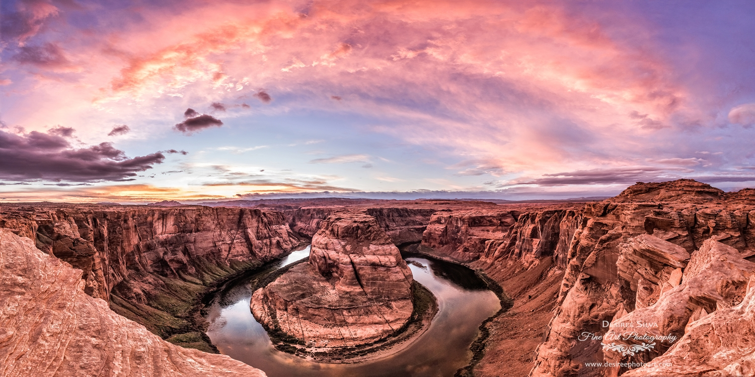 Horseshoe Bend Rainbow Sunset