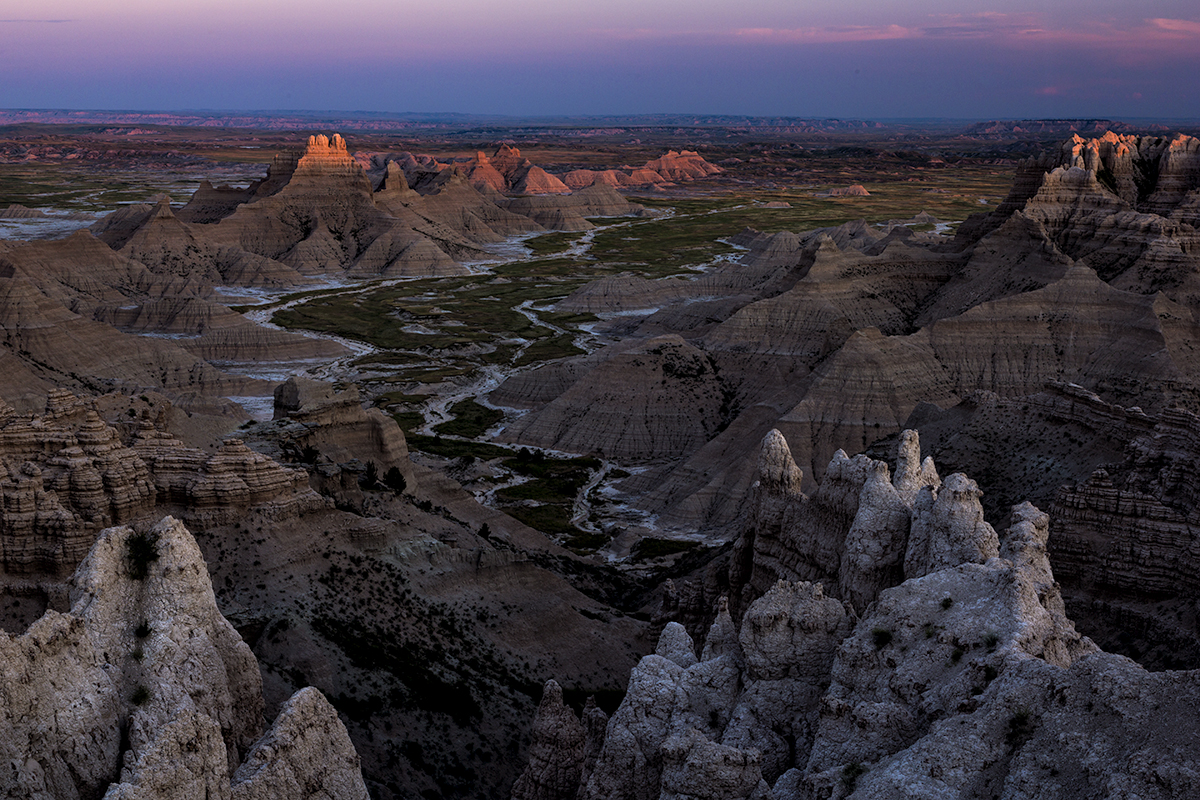 Evening Dusk, Badlands National Park, South Dakota