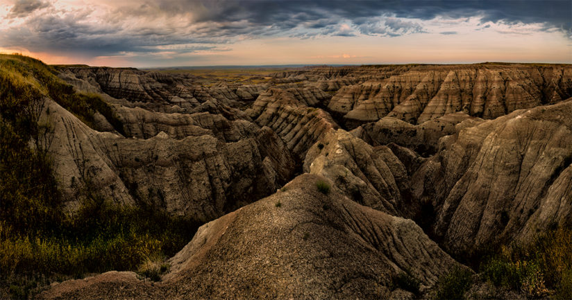 Summer Rain Storm, Badlands National Park, South Dakota