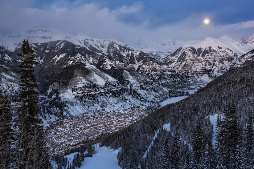 Telluride, Winter, San Juan Mountains, Colorado