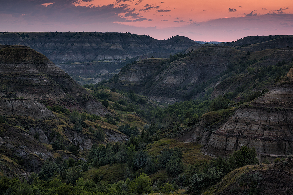Dusk, Theodore Roosevelt National Park, North Dakota