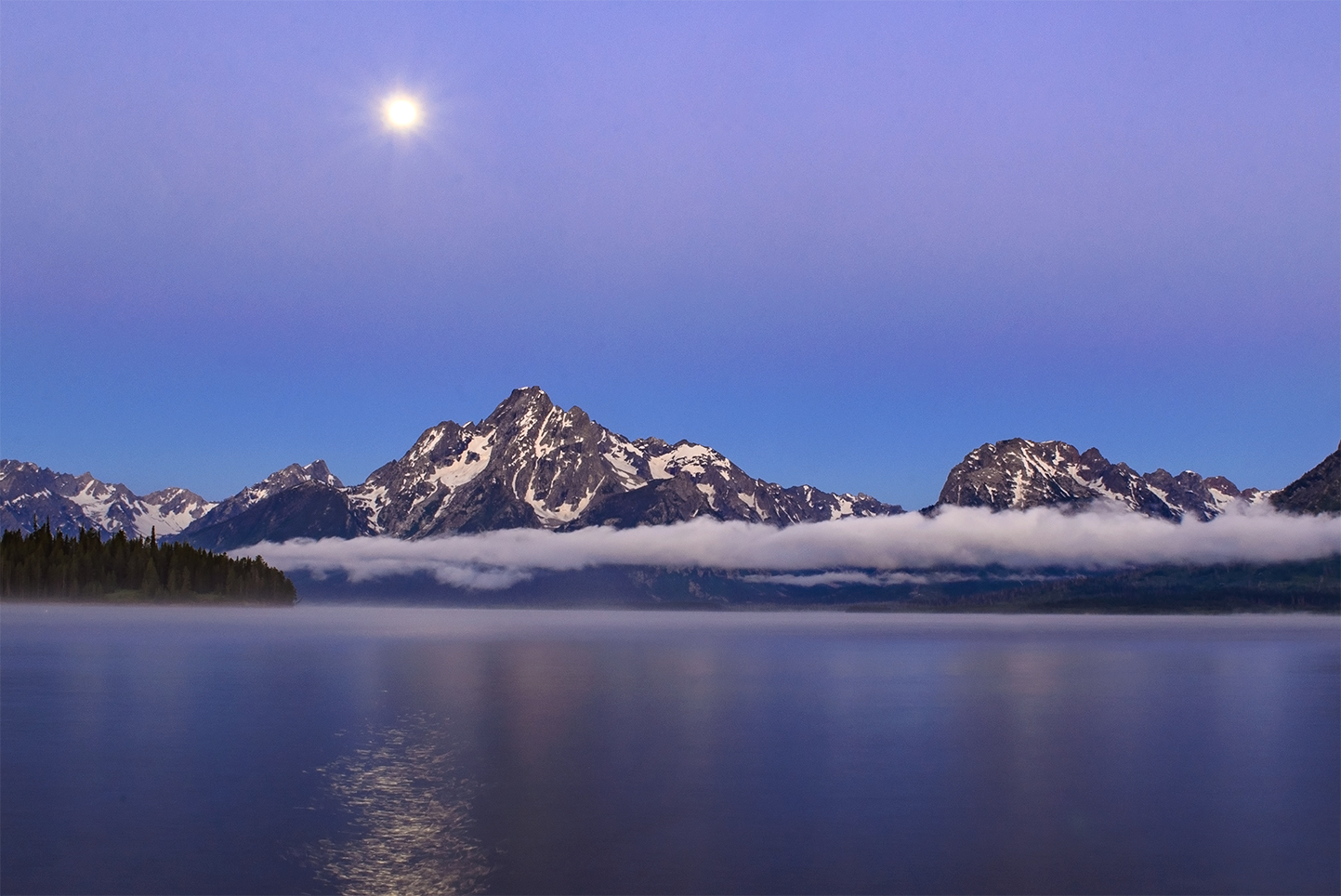 Moonset over Grand Teton