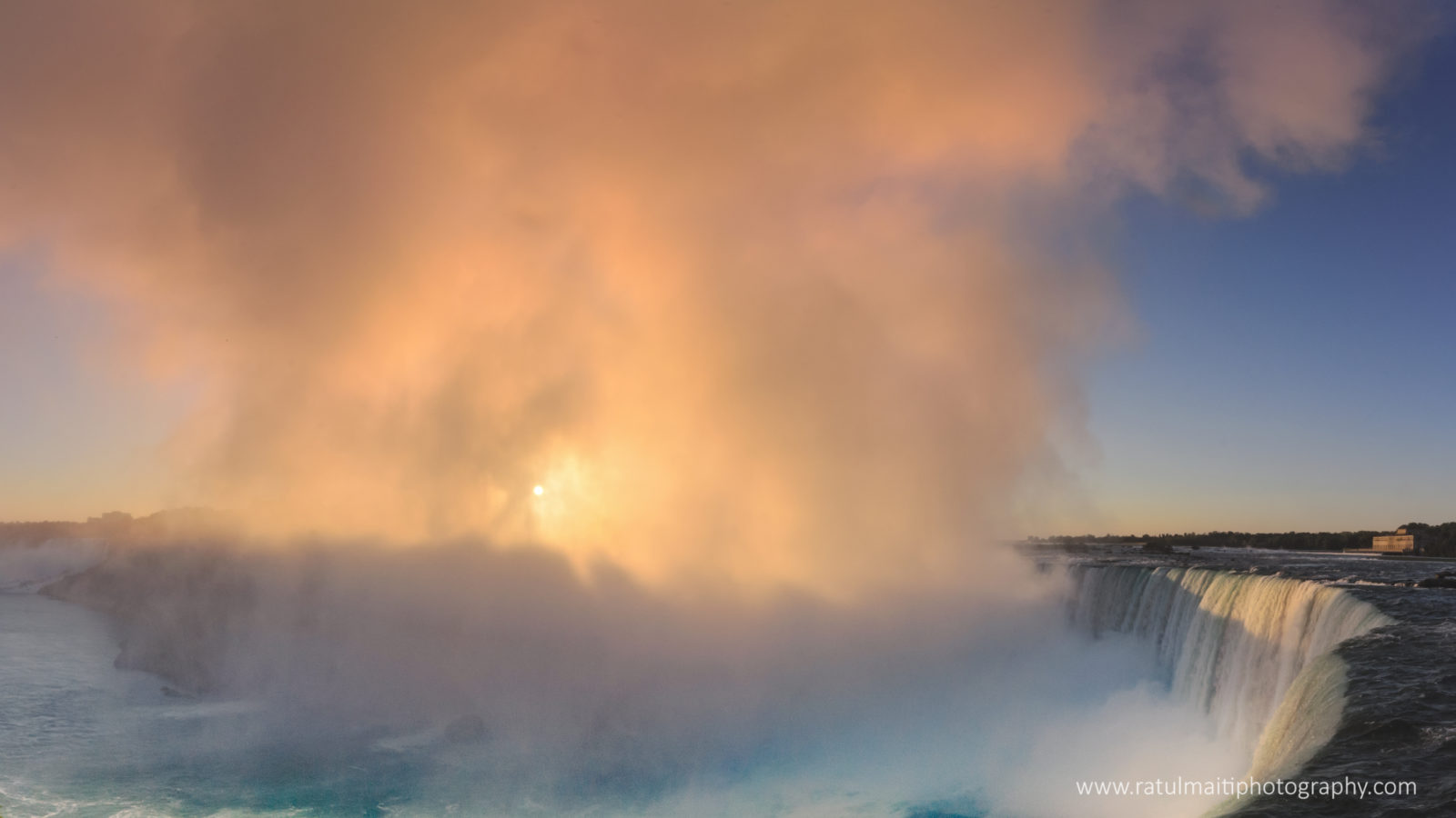 Rising mist at Niagara