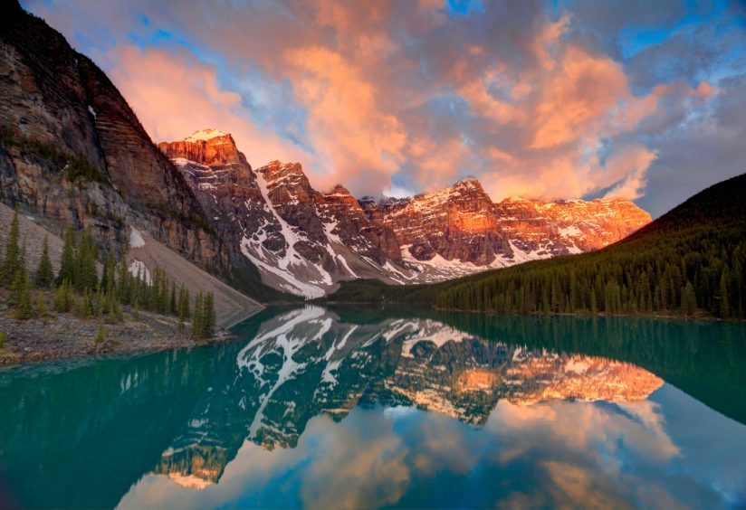 Sunrise, Moraine Lake, Banff National Park