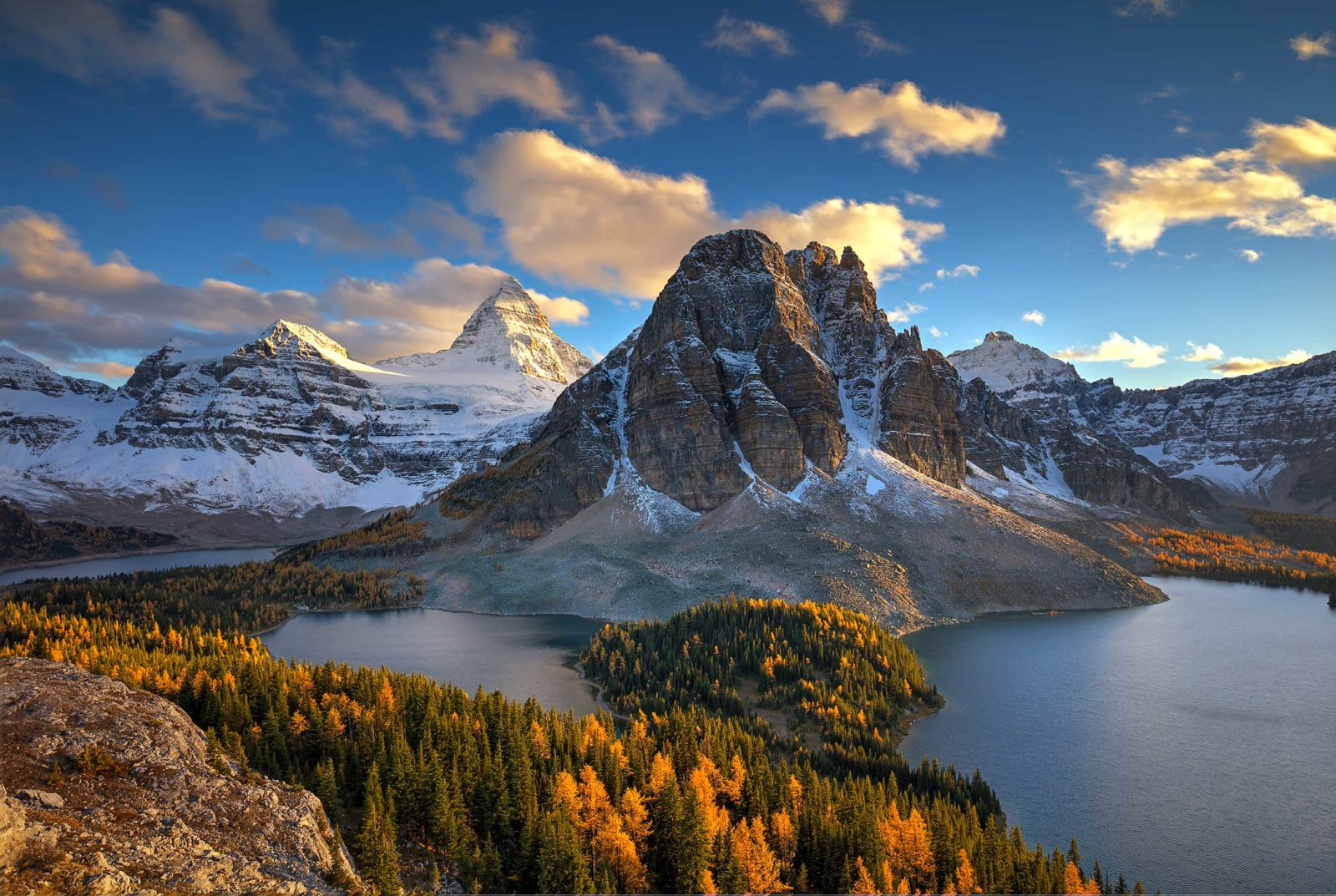 Sunset, Mount Assiniboine and Sunburst Peak
