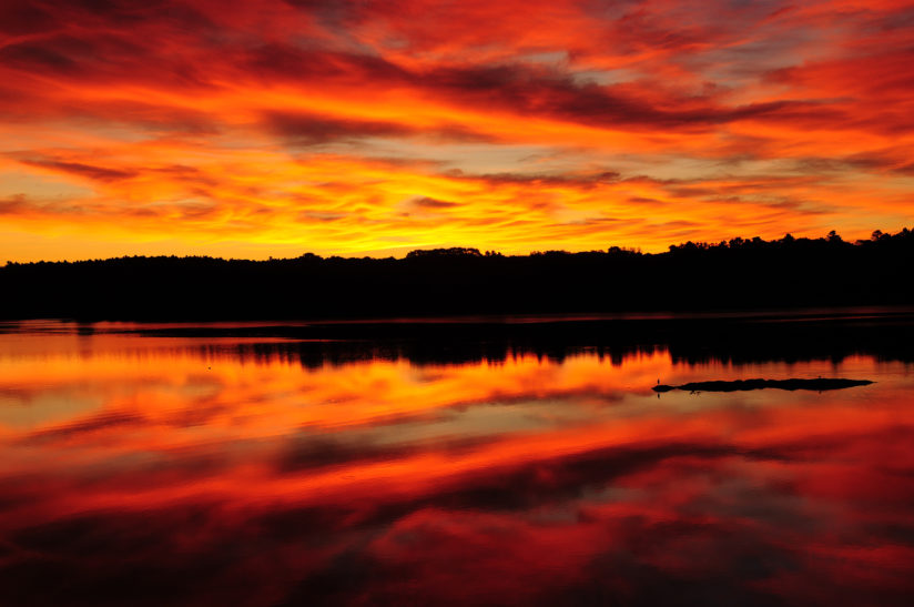 Blazing Sunrise over the New Meadows River