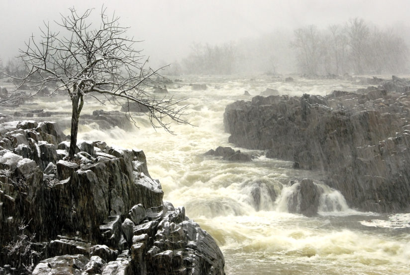 Snow at Great Falls