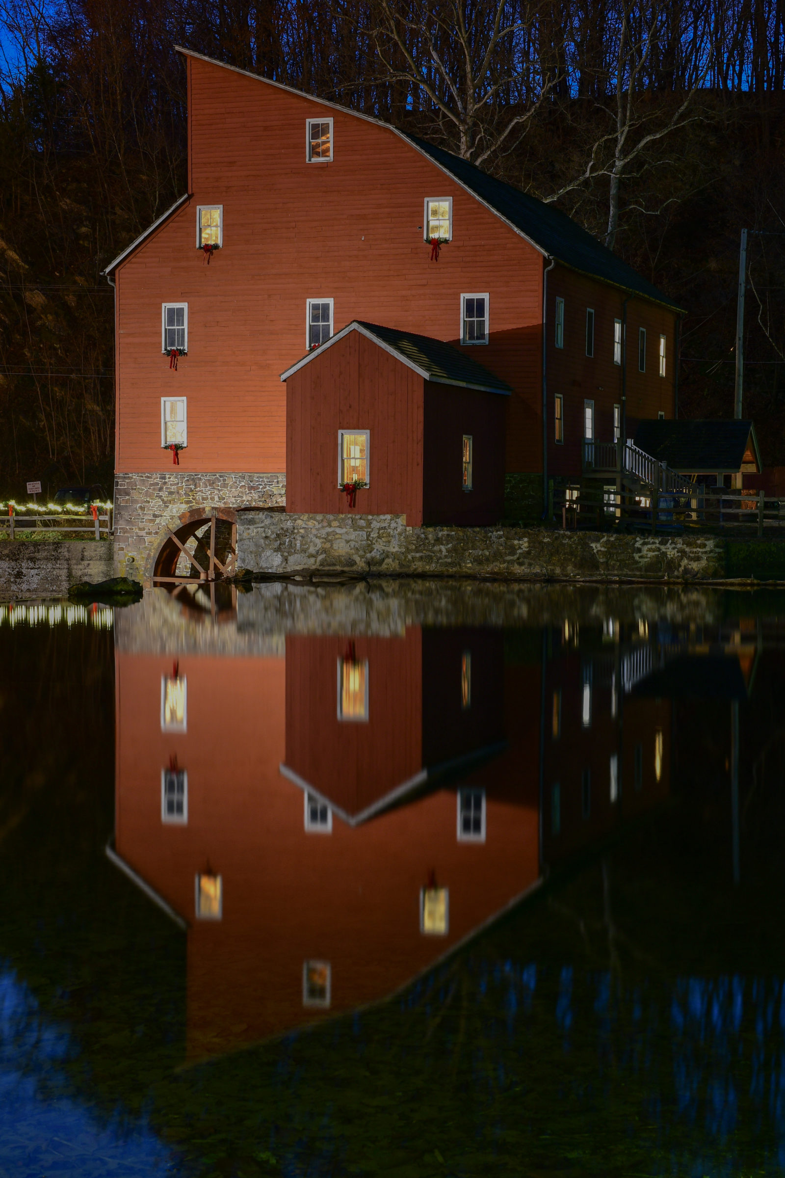 Red Mill Reflection