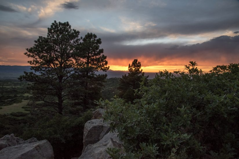 Sunset over Castle Pines