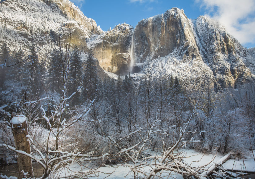 Yosemite Falls After A Late Winter Duster