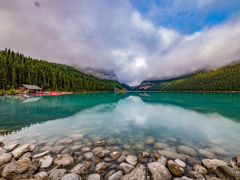 Cloudy Day at Lake Louise