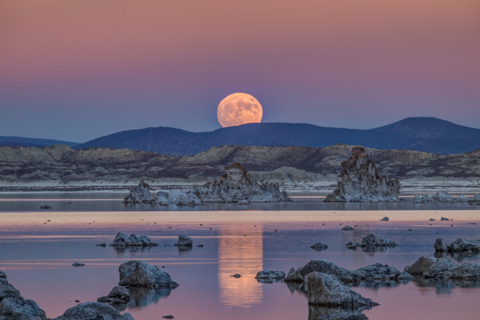 Mono Lake Super Moon Rise