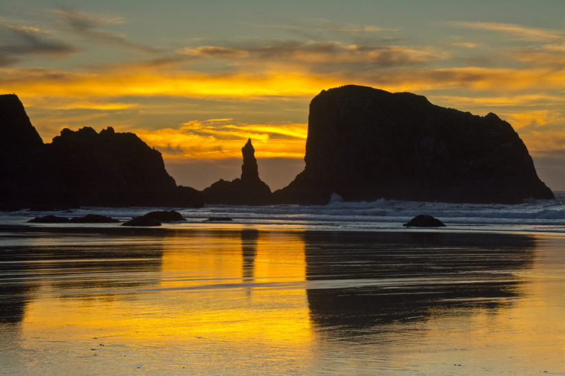 Sunset at the Sea Stacks