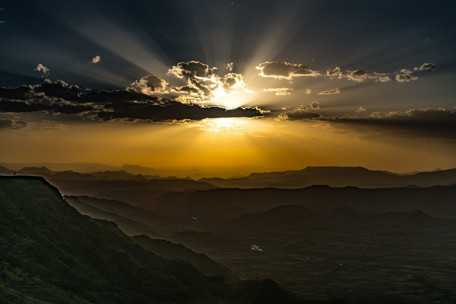 Sunset Over Lalibela, Ethiopia