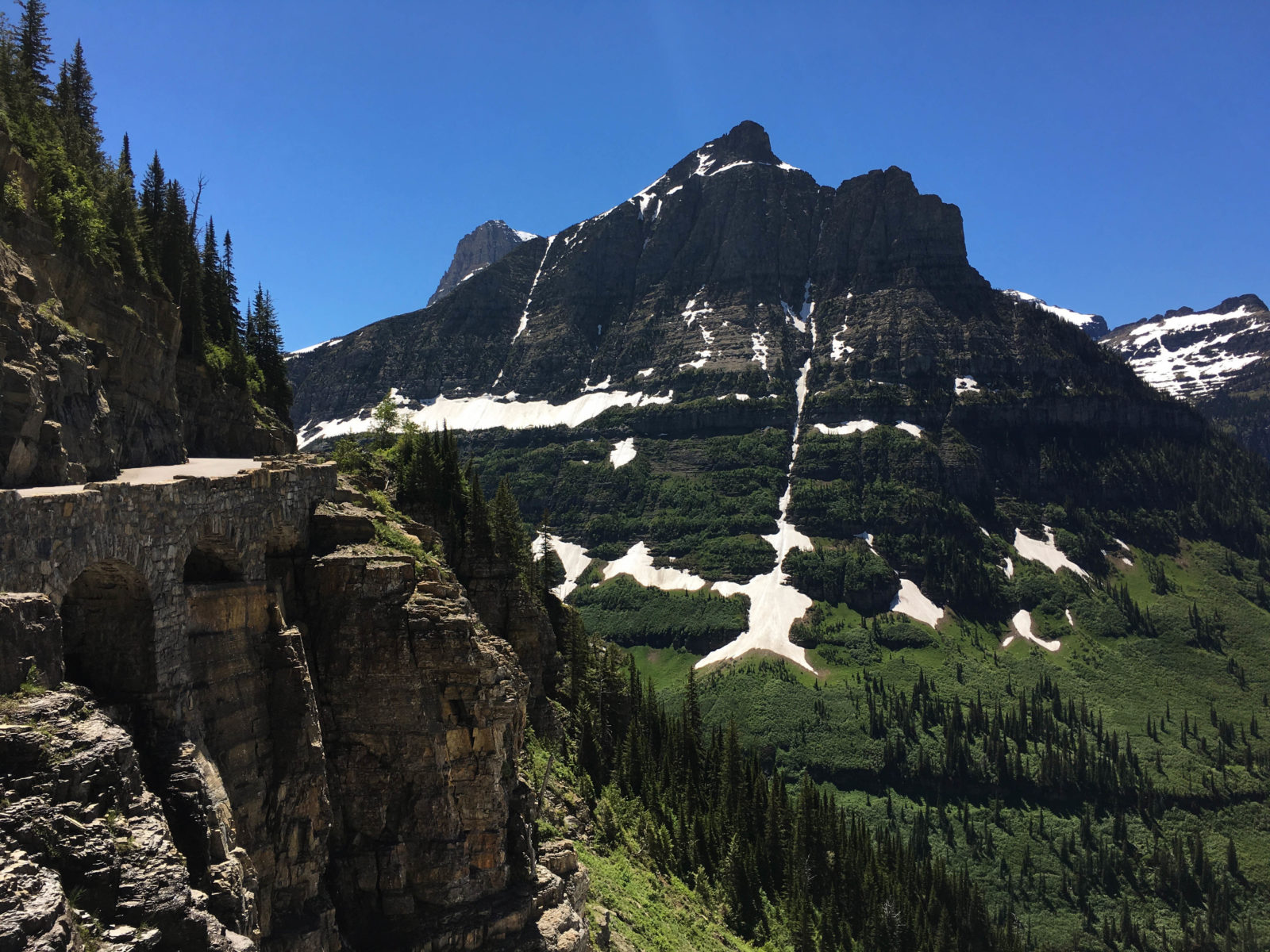 Triple arches on Going to the Sun Road