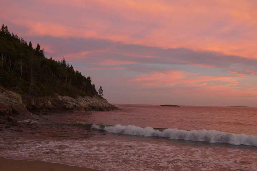 Sunset at Great Head, Acadia National Park