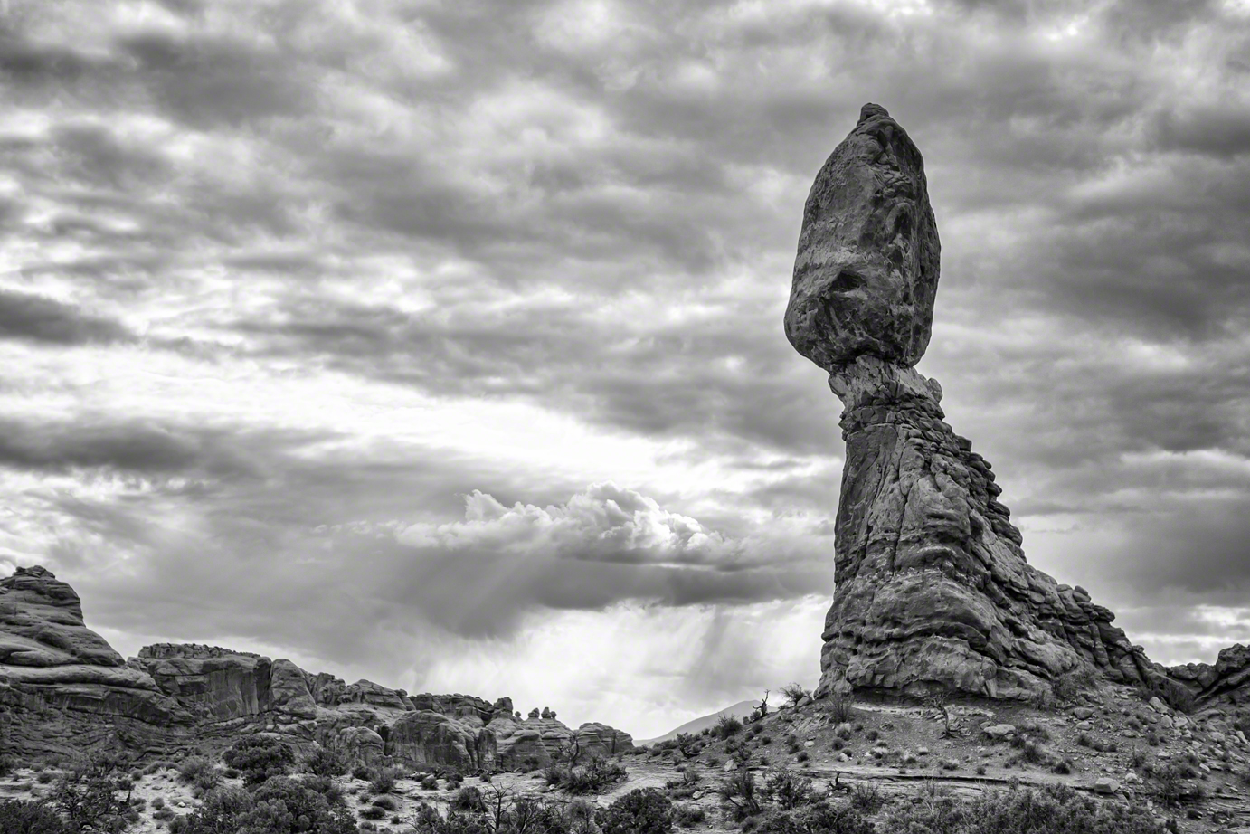 Balance Rock (Black and White)