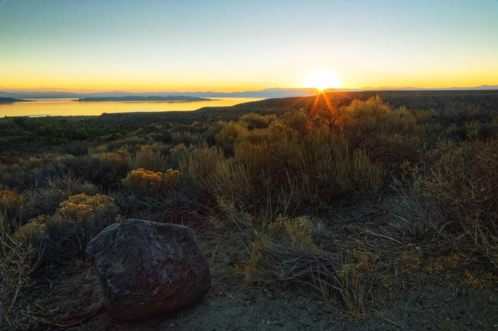 Mono Lake Fall Sunrise