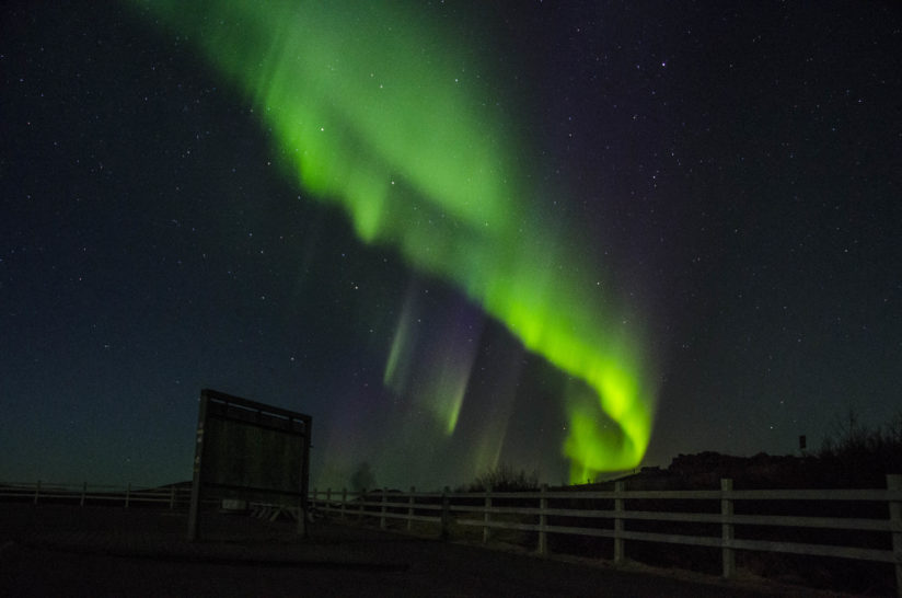 Aurora Borealis at Kerid