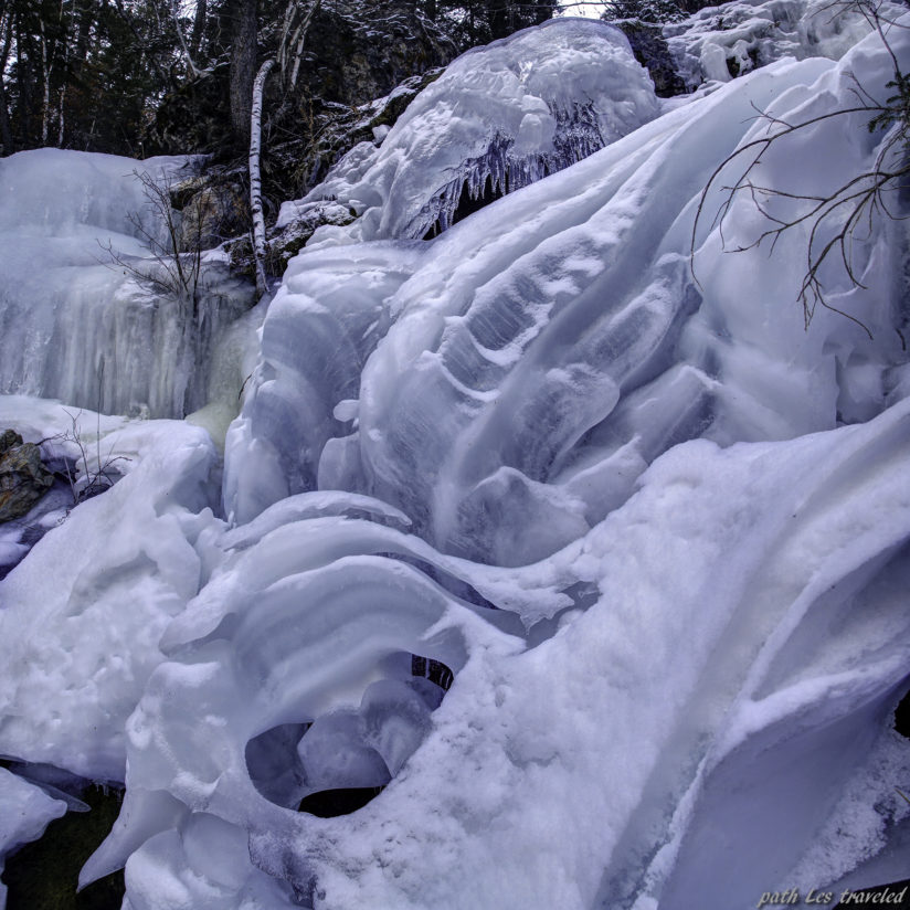 ice in Spearfish Canyon