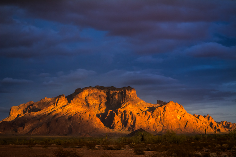 Desert Mountain at Sunset
