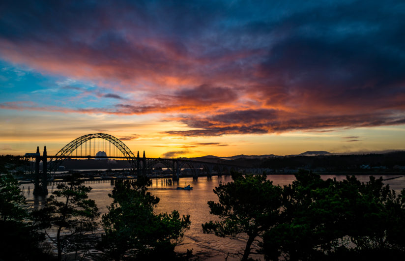 Sunrise in Yaquina Bay