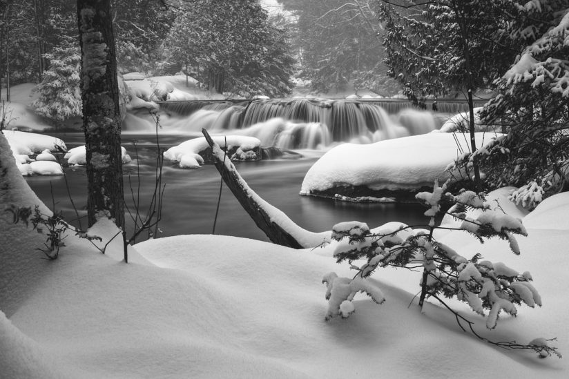 Winter on Bond Falls