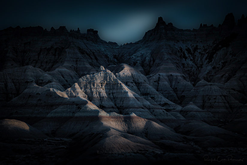 Moonlight Over the Badlands