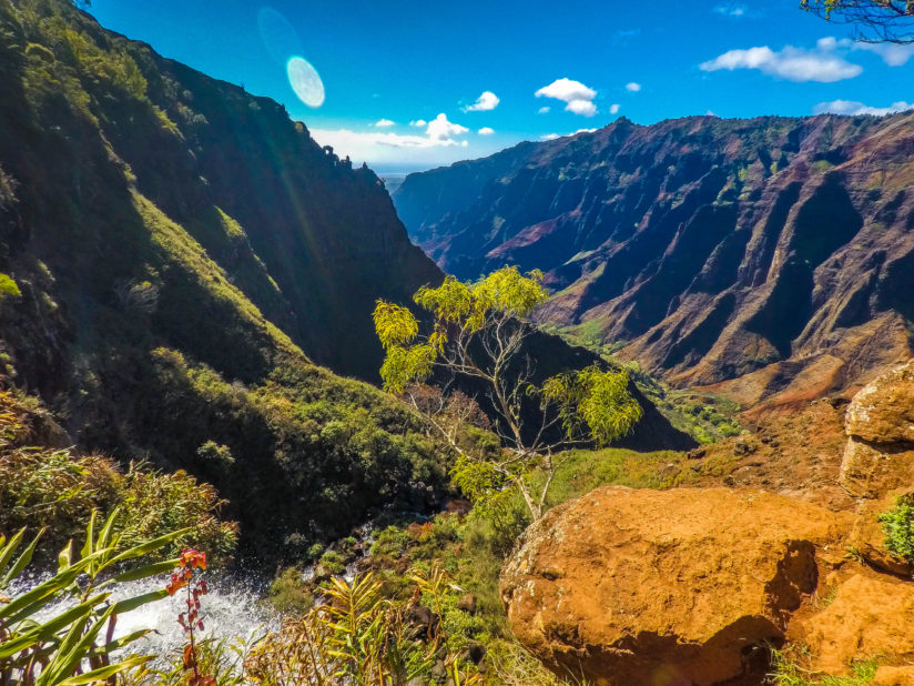 Waimea Canyon over Waipoo Falls