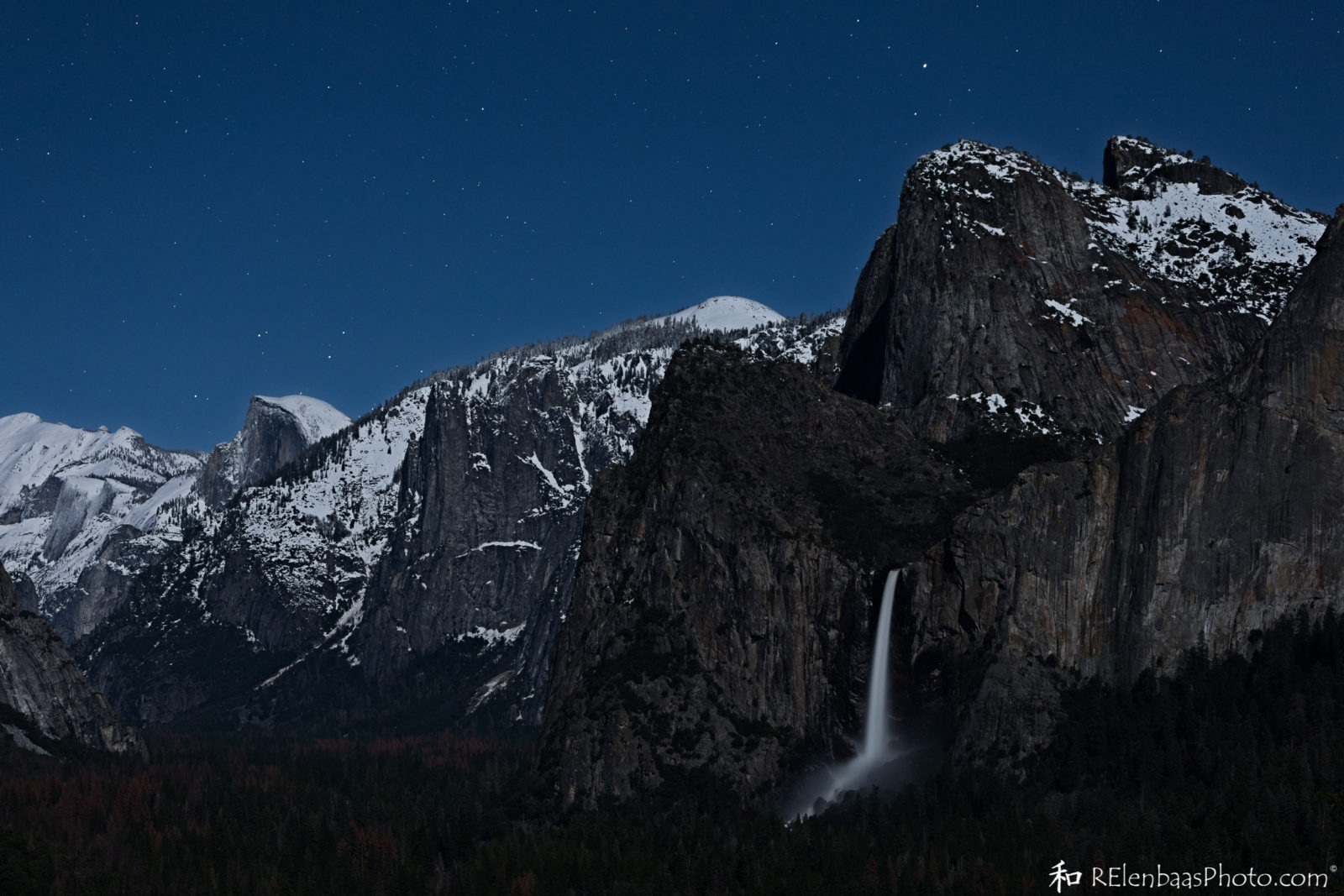 Tunnel View by Moonlight, Yosemite National Park