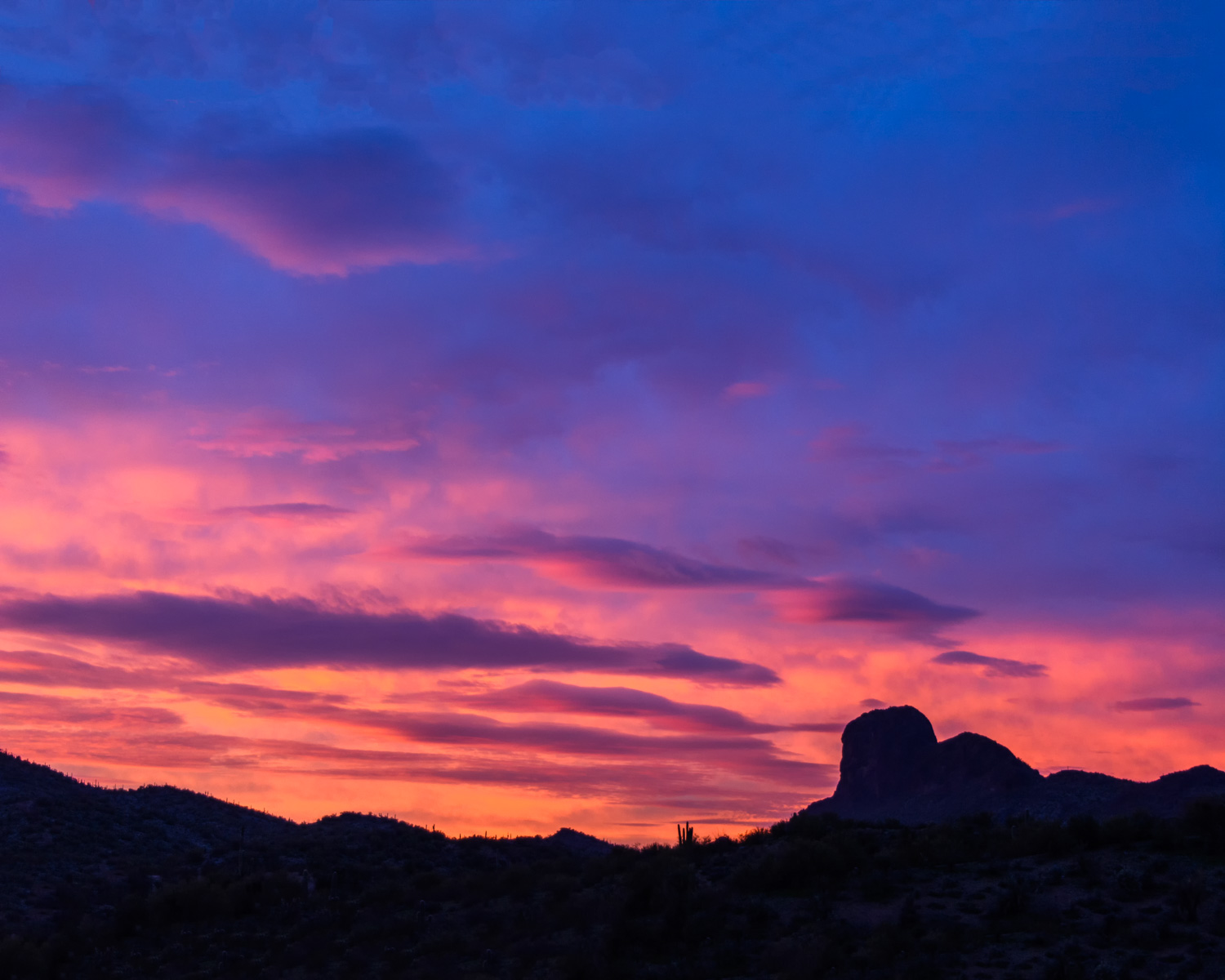 Sunrise over Vulture Peak