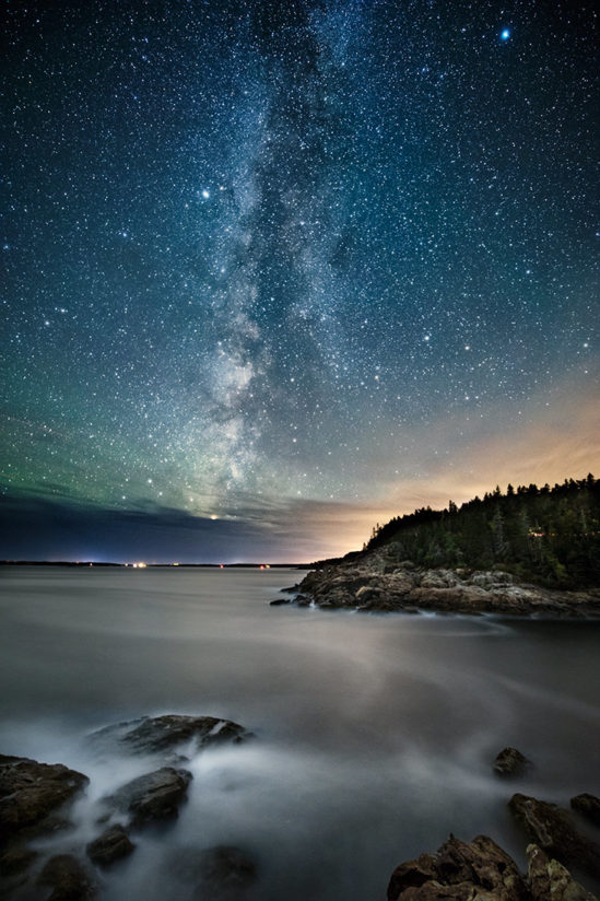 Milky Way above Acadia