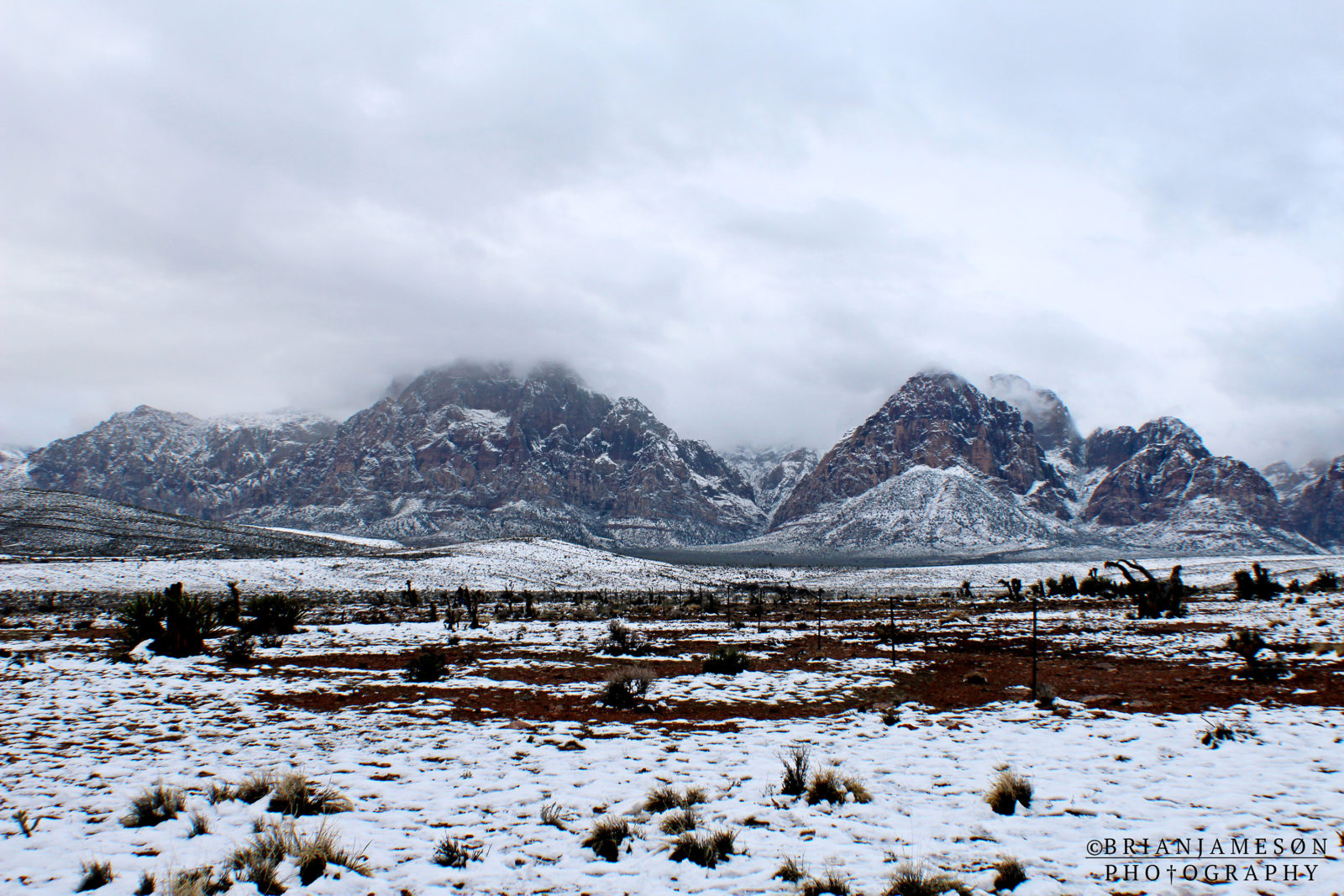 Red Rock on a snowy day