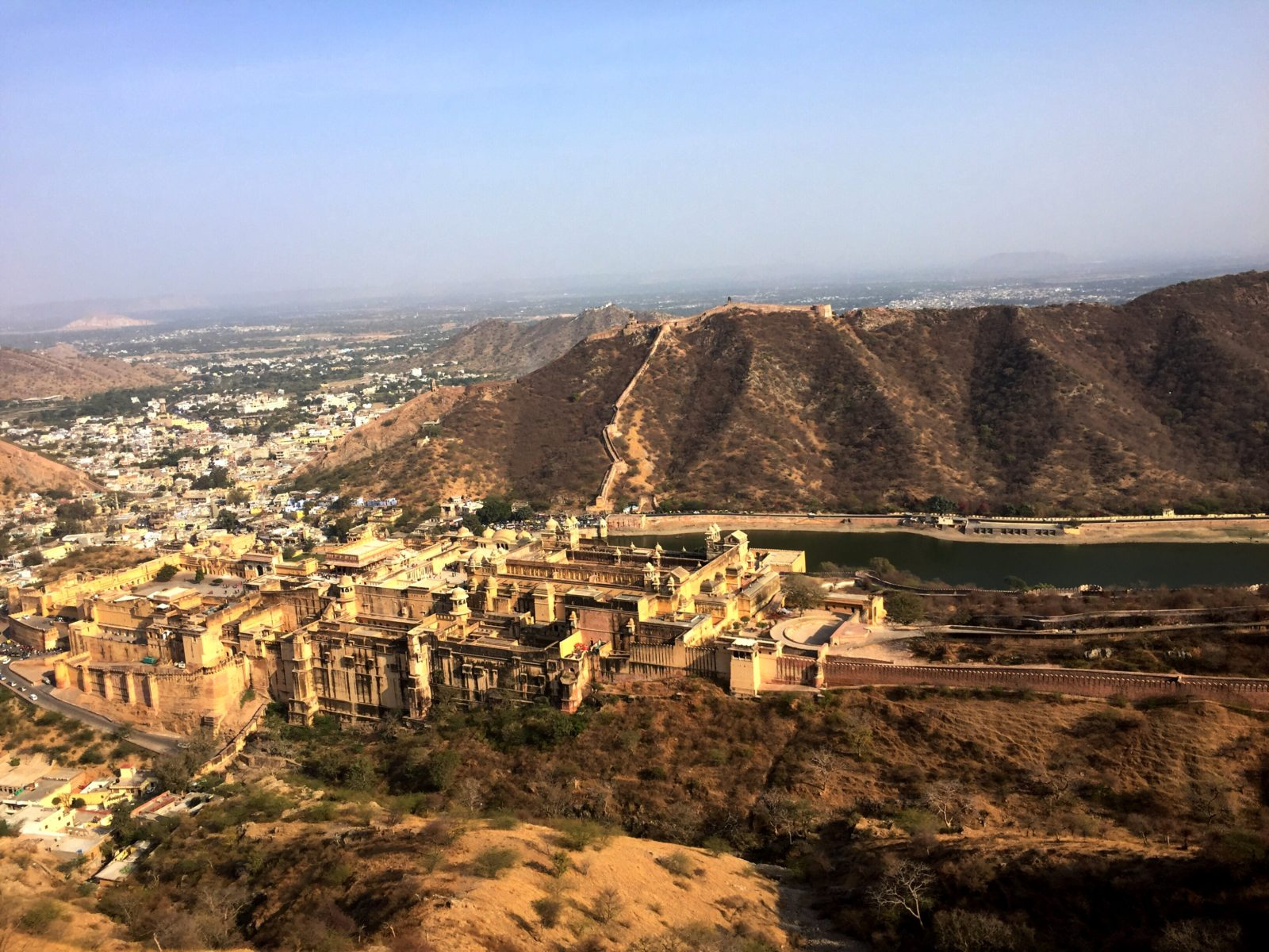 "Amber Fort- World Heritage  Site  from Pink City ""Jaipur"" INDIA"