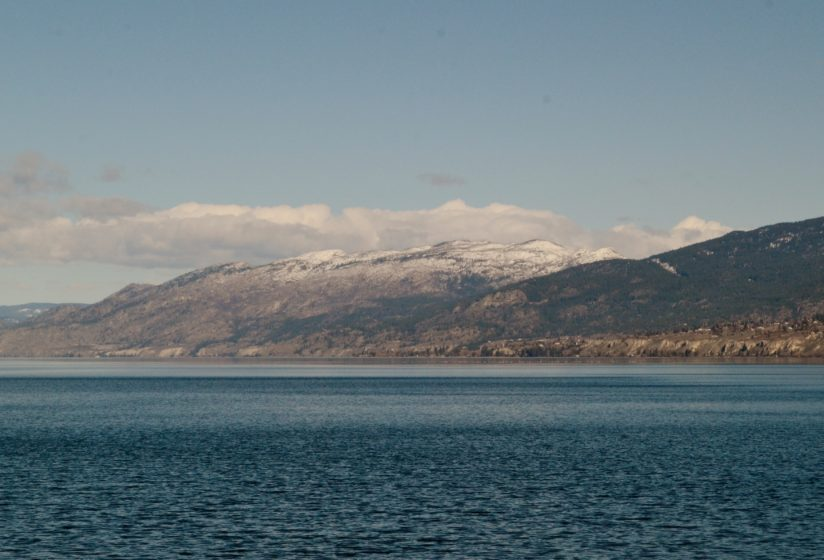 Spring is coming,Snow lingers on mountain tops