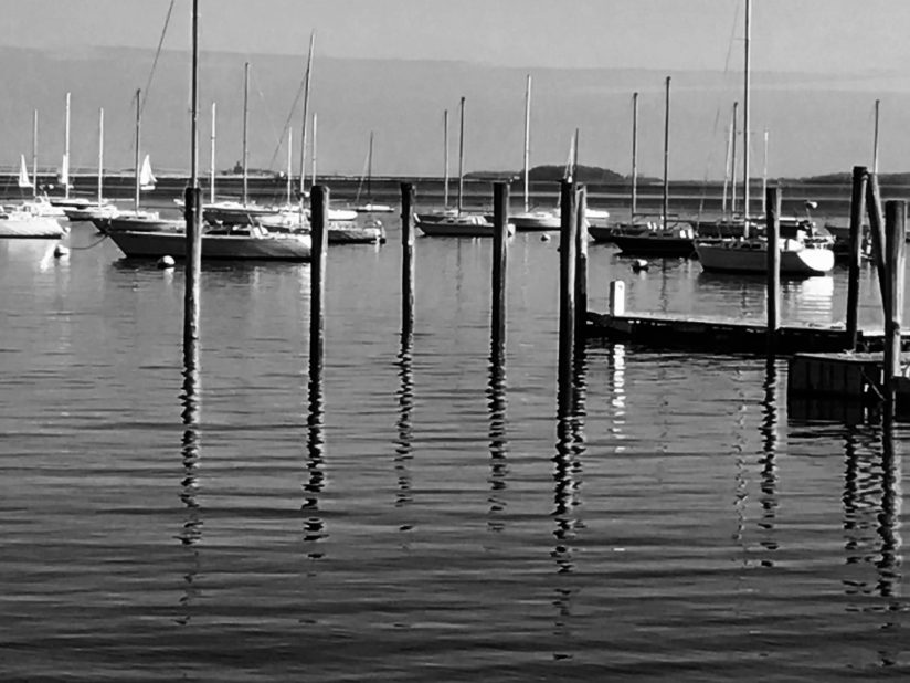 Boston Harbor Winter Boats
