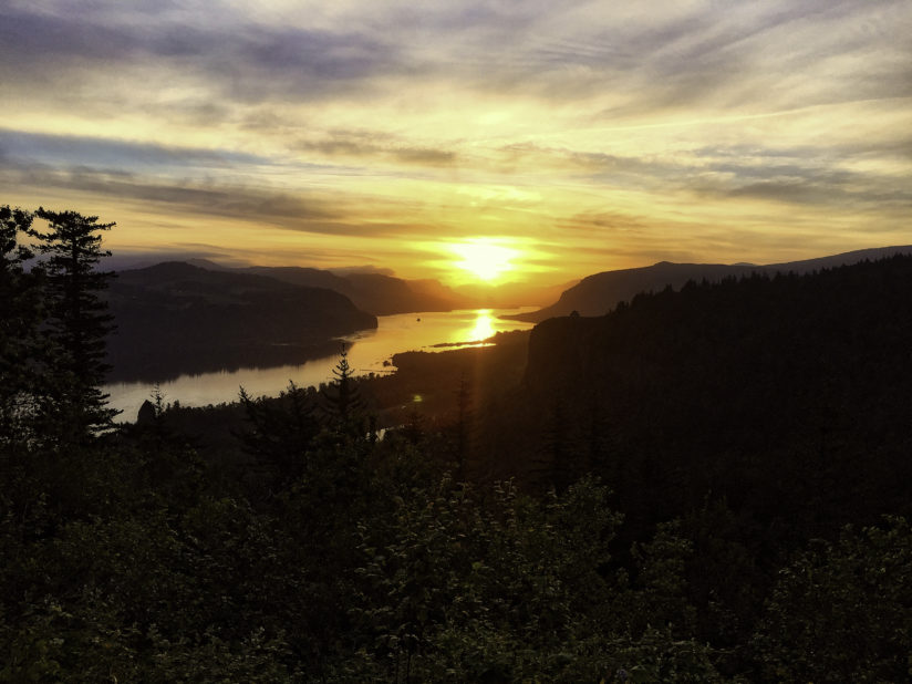 Columbia River sunrise